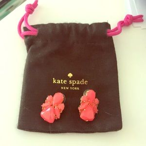Kate Spade red statement earrings